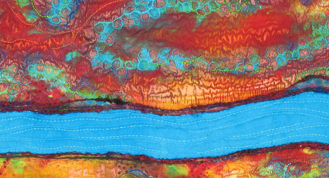 Fluid Fissure 2 (detail) by Linda A. Miller